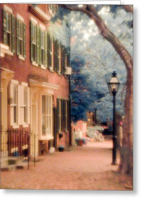 Colonial Old New Castle Greeting Card