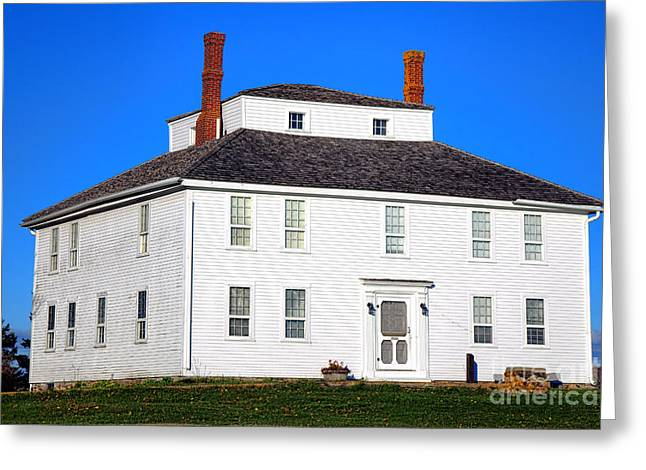 Colonial Pemaquid Fort House Greeting Card
