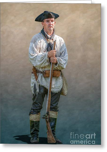 Colonial Ranger Portrait Greeting Card by Randy Steele