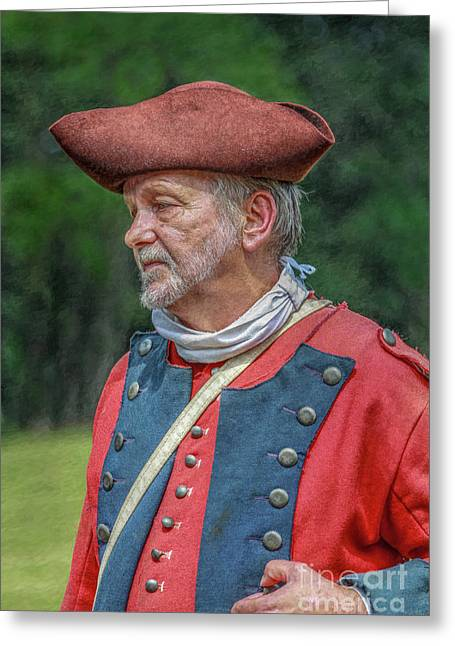 Colonial Soldier Portrait Greeting Card