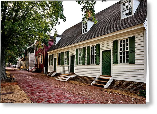Colonial Times Greeting Card by Christopher Holmes