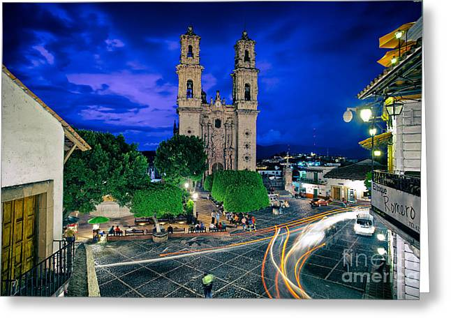 Colonial Town Of Taxco, Mexico Greeting Card by Sam Antonio Photography