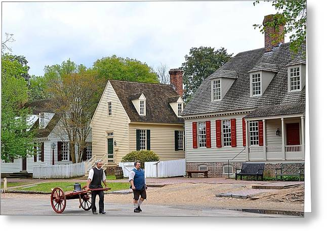 Colonial Williamsburg 4 Greeting Card by Todd Hostetter