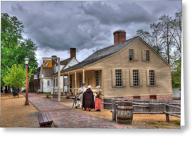 Colonial Williamsburg 5 Greeting Card by Todd Hostetter