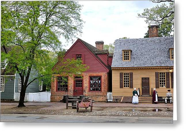 Colonial Williamsburg 9 Greeting Card by Todd Hostetter