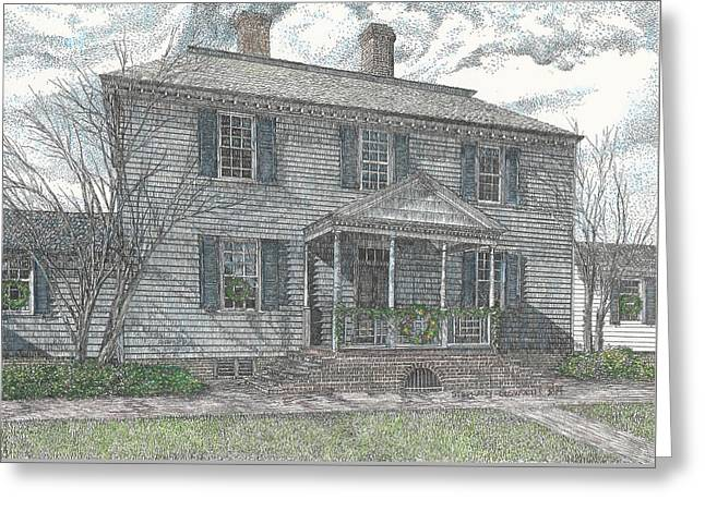 Colonial Williamsburg's Carter House Greeting Card by Stephany Elsworth