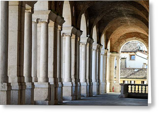 Colonnade  Greeting Card by Bill Mock