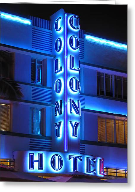 Colony Hotel On Ocean Drive 2 Greeting Card by Frank Mari