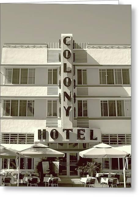 Colony Hotel South Beach Greeting Card