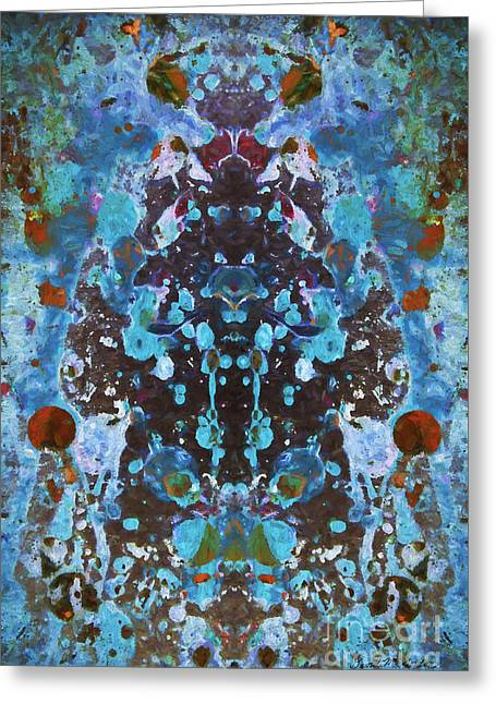Color Abstraction Iv Greeting Card by David Gordon