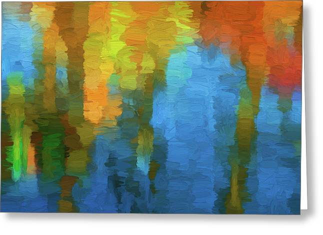 Color Abstraction Xxxi Greeting Card