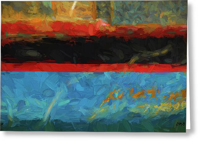 Color Abstraction Xxxix Greeting Card by David Gordon