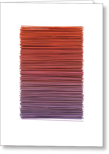 Color And Lines 3 Greeting Card