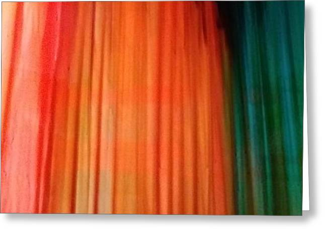 Color Bands Greeting Card