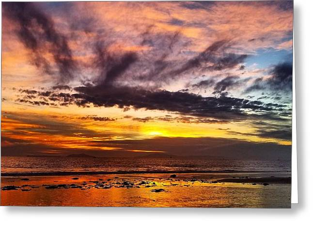 Color Burst Malibu Sunset Greeting Card