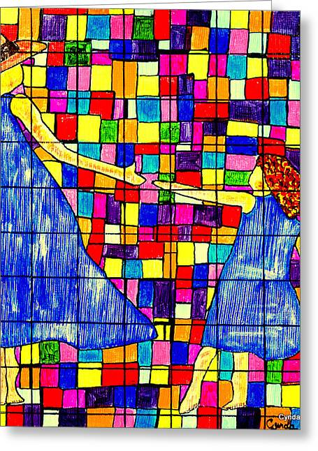 Color Coded Memories Greeting Card by Cynda LuClaire