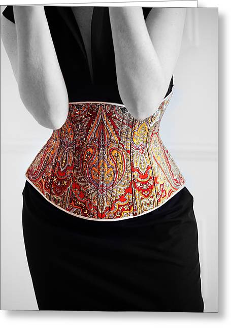Greeting Card featuring the photograph Color Corset by Andrey  Godyaykin