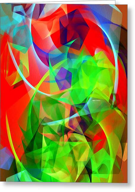 Greeting Card featuring the digital art Color Dance 3720 by Rafael Salazar
