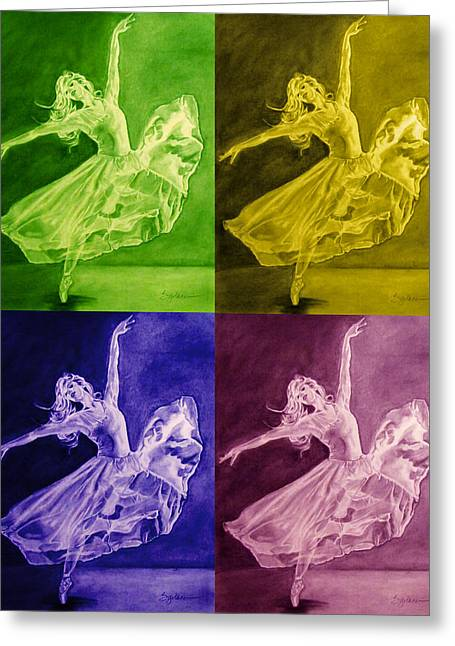 Color Dancer Greeting Card
