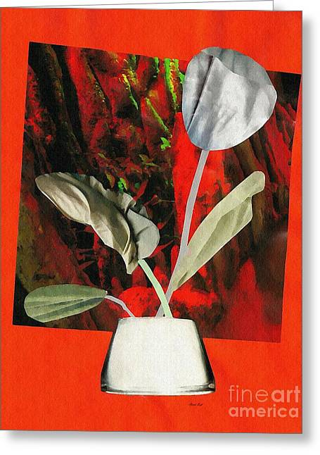 Color Drained Bouquet Greeting Card