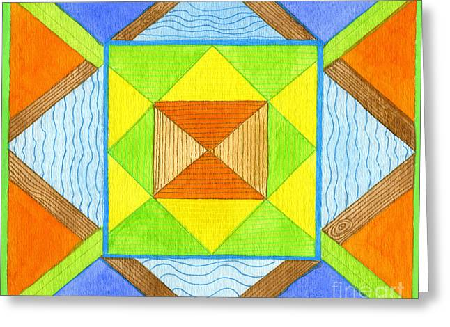 Color Dream Greeting Card by Norma Appleton