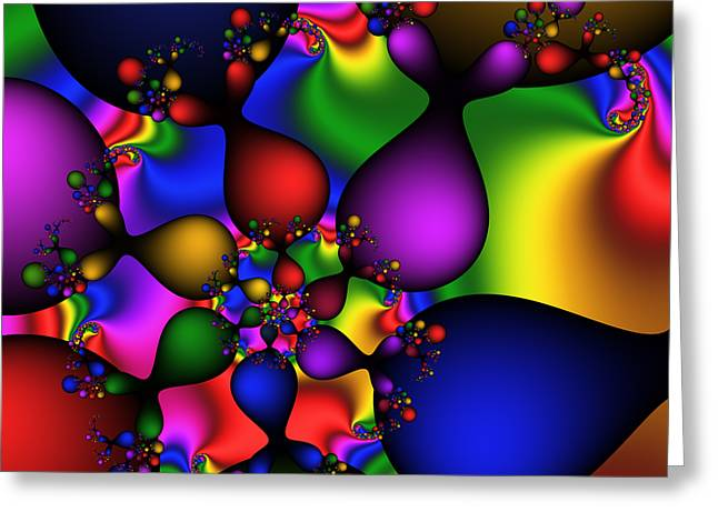 Color Drops  187 Greeting Card by Rolf Bertram