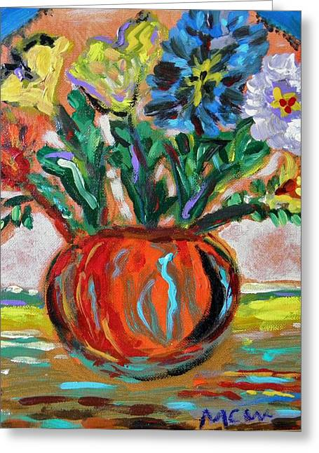 Greeting Card featuring the painting Color Everywhere by Mary Carol Williams