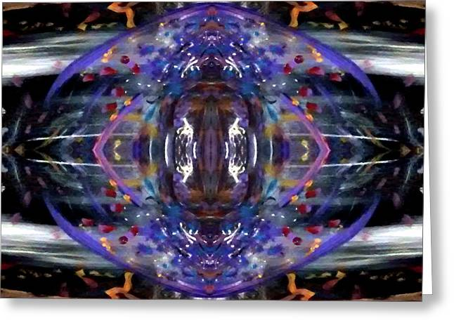 Greeting Card featuring the digital art Color Eye by Michelle Audas