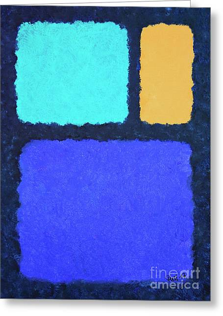 Greeting Card featuring the painting Color Fields by Jutta Maria Pusl