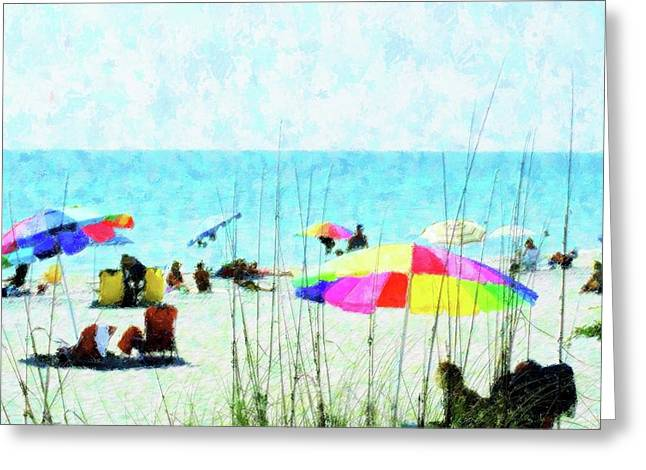 Color Filled Beach Day Greeting Card