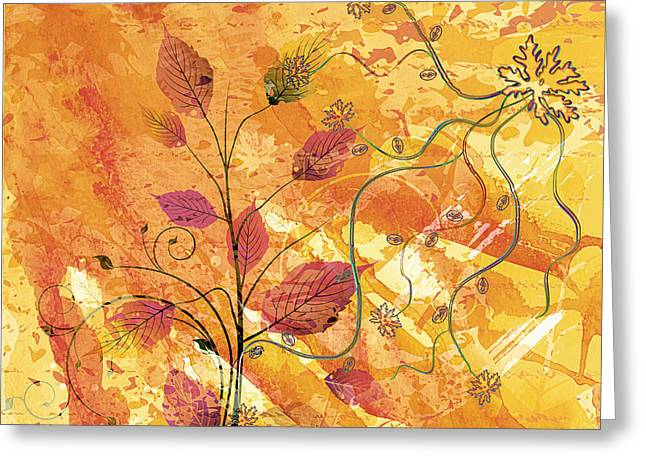 Color Flirt Abstract Greeting Card