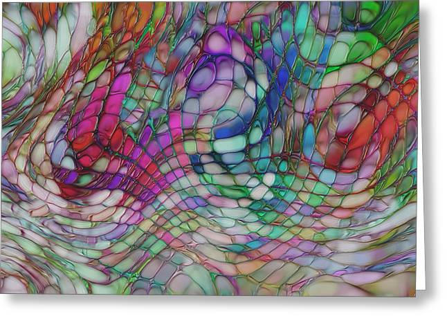 Color Flow Greeting Card by Jack Zulli