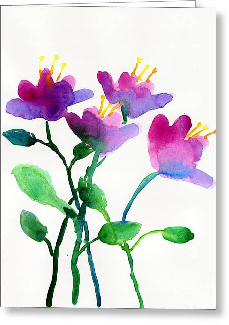Color Flowers Greeting Card