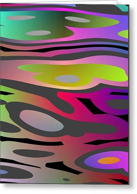Greeting Card featuring the digital art Color Fun 1 by Jeff Iverson