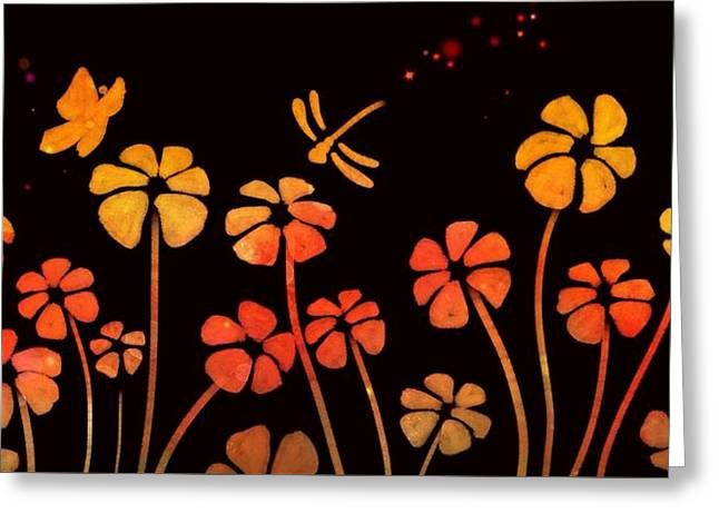 Color Game Series Orange Greeting Card by Veronica Minozzi