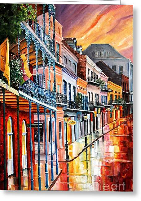 Color In The Quarter Greeting Card by Diane Millsap
