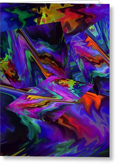 Greeting Card featuring the digital art Color Journey by Lynda Lehmann