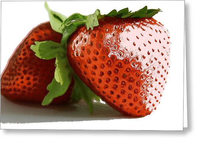 Color Layer Strawberry Greeting Card