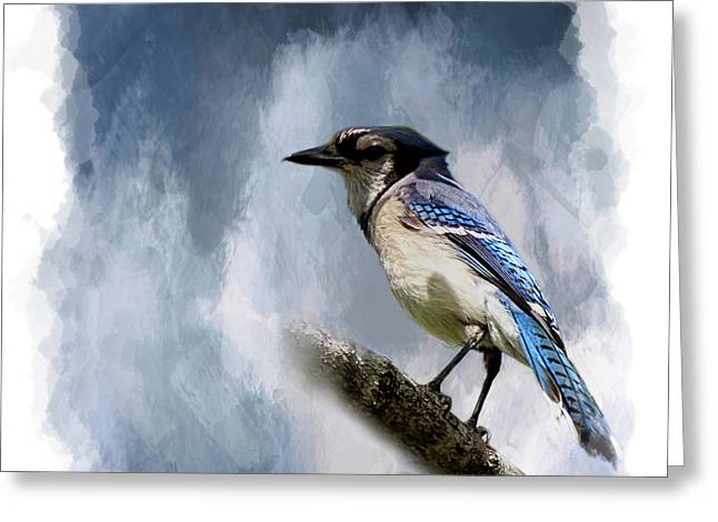 Color Me Blue Greeting Card by Cyndy Doty