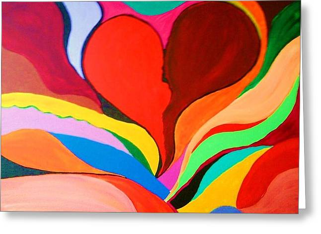 Color Mine With Love Greeting Card by Charles  Jennison