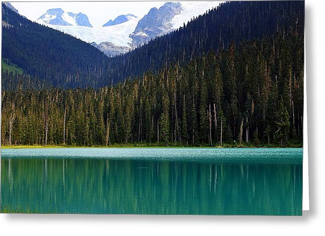 Lower Joffre Lake Greeting Card by Heather Vopni