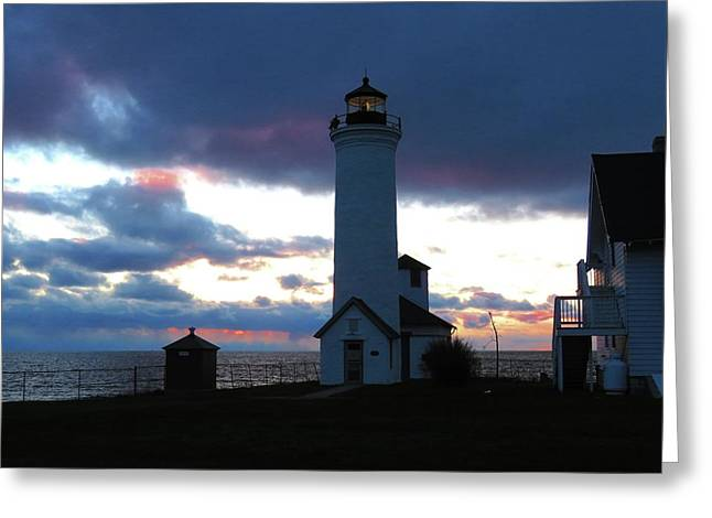 Color Of December, Tibbetts Point Lighthouse Greeting Card