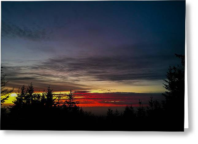 Color Of Dusk Greeting Card
