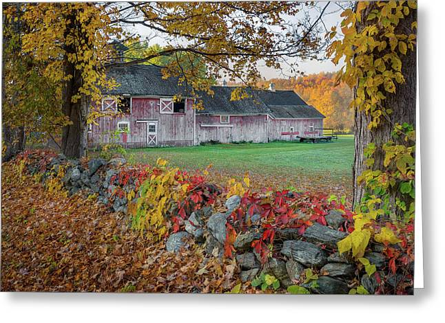 Color Of New England Greeting Card by Bill Wakeley