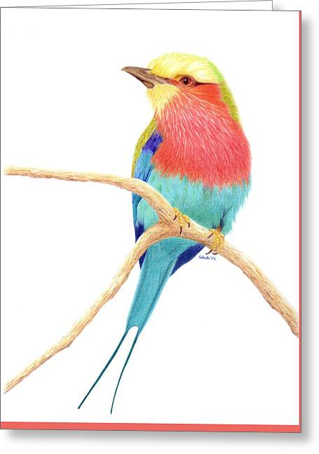 Color On A Branch Greeting Card