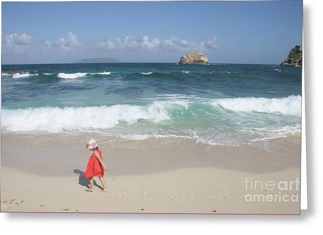 Color On The Beach  Greeting Card