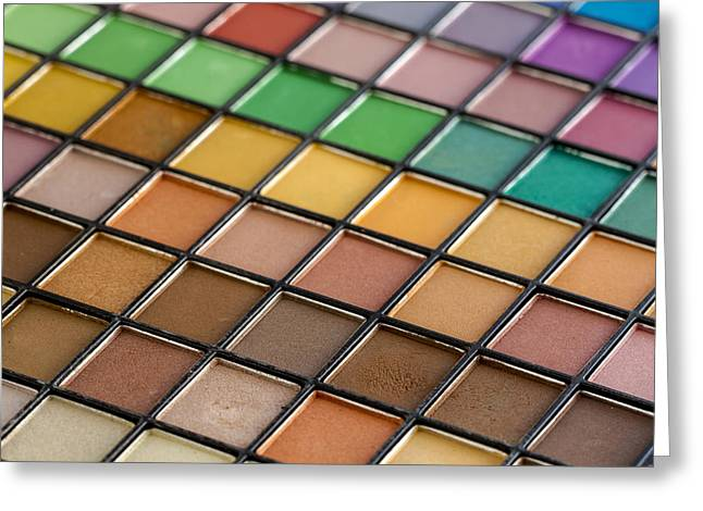 Color Palette For The Eyes Greeting Card by Teri Virbickis