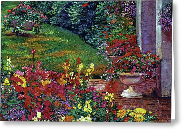 Color Palette Garden Greeting Card by David Lloyd Glover