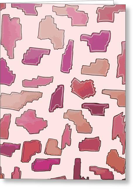 Color Pattern 2 Greeting Card