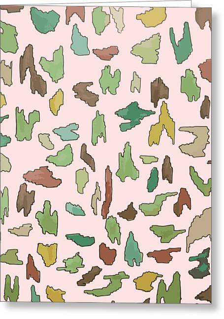 Color Pattern 3 Greeting Card